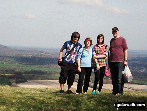 Walk Butser Hill walking UK Mountains in  The South Downs National Park Hampshire    England