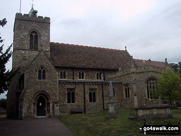 Fulbourn Church. Walk route map ca129 Little Wilbraham from Fulbourn photo
