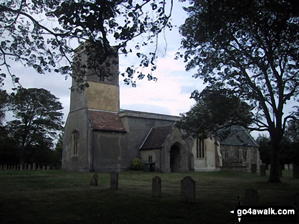 Little Wilbraham Church. Walk route map ca129 Little Wilbraham from Fulbourn photo