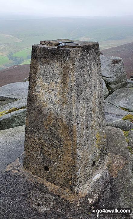 Walk ny121 Simon's Seat from Barden Bridge, Wharfedale - Simon's Seat (Wharfedale) summit Trig Point