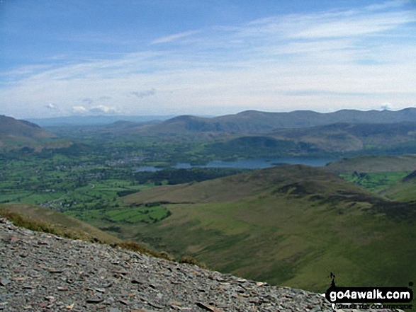Braithwaite, Keswick and Derwent Water from Grisedale Pike