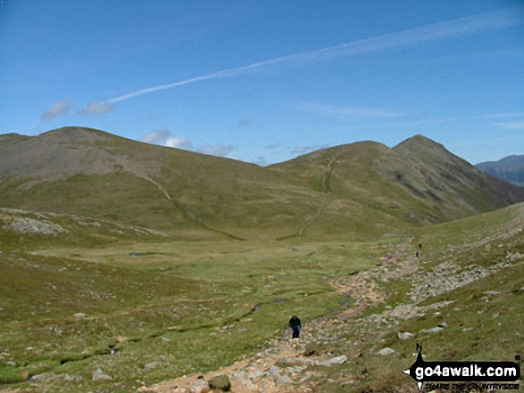 Grisedale Pike from Sand Hill. Walk route map c408 Grisedale Pike and Causey Pike from Braithwaite photo