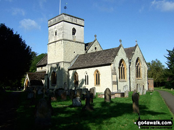 Betchworth Church. Walk route map su143 Denby's Wood from Brockham photo