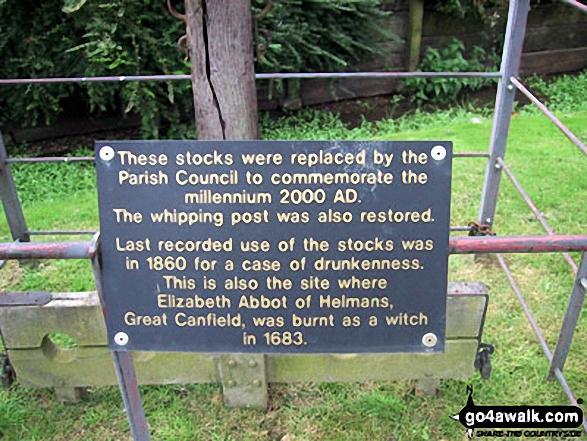 Hellman's Cross village stocks information board