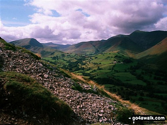 The Newlands Valley from (half-way up) Cat Bells (Catbells)