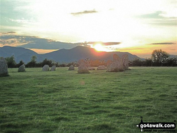 Castlerigg Stone Circle near Keswick at Sunset