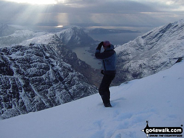 Me on Bidein Druim Nan Ramh in The Cuillin Hills Skye and Mull Scotland