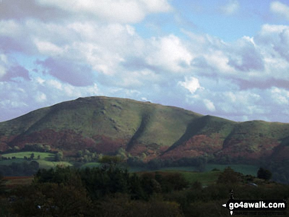Caer Caradoc Hill from Church Stretton. Walk route map sh103 Ragleth Hill and Caer Caradoc Hill from Church Stretton photo