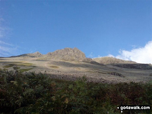 The scree slope on the western slope of Great Gable