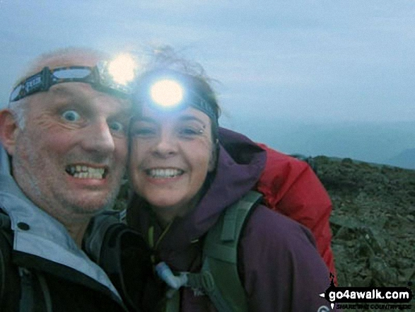 Me and mate Mike on Scafell Pike