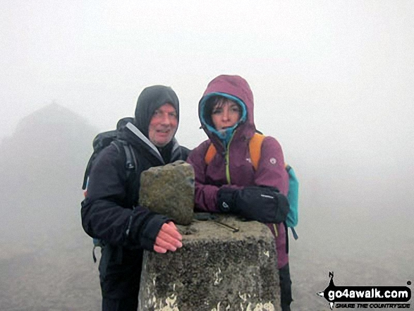 Me and my mate Mike on Ben Nevis. Walk route map h137 Ben Nevis and Carn Mor Dearg from Achintee, Fort William photo