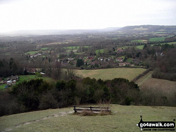 The view from Colley Hill in winter