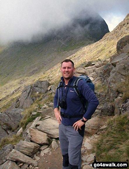 My husband on The Watkin Path up Snowdon