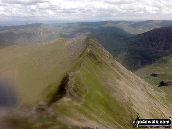 Striding Edge from Helvellyn. Walk route map c264 The Grisedale Round from Patterdale photo