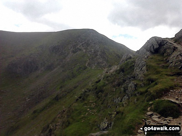 Walk c224 Helvellyn via Swirral Edge and Raise from Glenridding - Swirral Edge from the col between Helvellyn and Catstye Cam