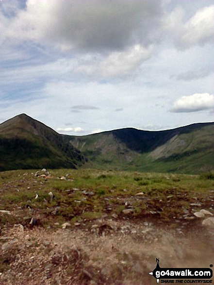 Catstye Cam, White Side and Raise (Helvellyn) from the summit of Birkhouse Moor