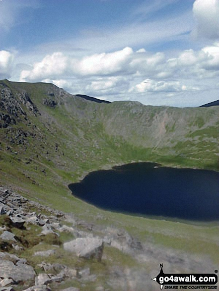 Walk c264 The Grisedale Round from Patterdale - Swirral Edge and Red Tarn (Helvellyn) from Striding Edge