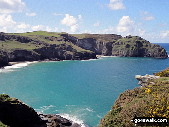 Bossiney Cove and Willapark from Rocky Valley