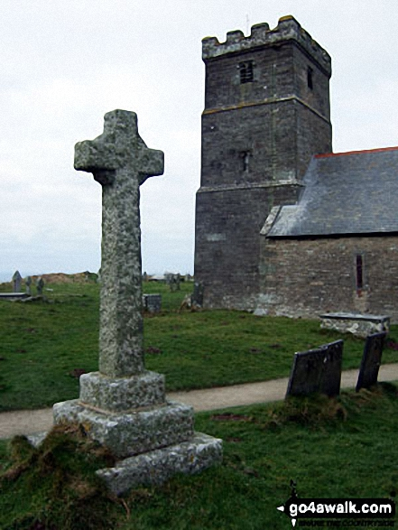 Walk co150 Trevalga Cliffs and Tintagel Castle from Tintagel - Tintagel Church