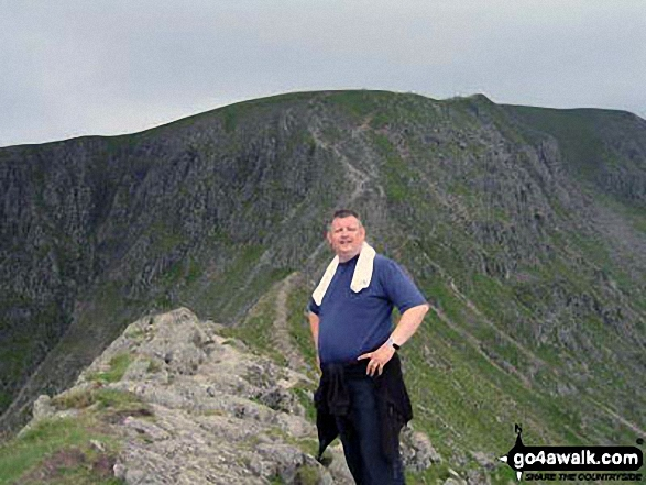 My husband just before tackling Sstriding Edge on Helvellyn