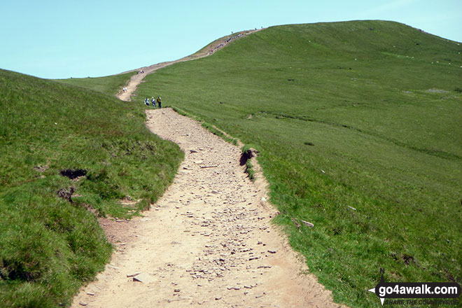 On the path to Pen y Fan, busy going up Corn Du