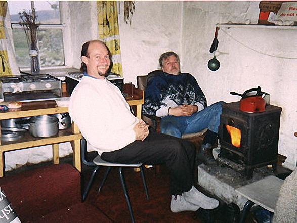 Inside Howemoore Hostel on South Uist