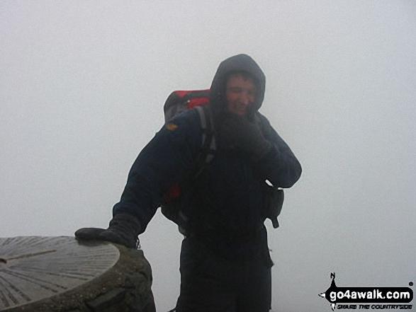 Me on Snowdon (Yr Wyddfa) walk Snowdonia Gwynedd Wales walks