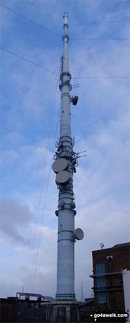 The huge mast on the summit of Winter Hill (Rivington Moor)