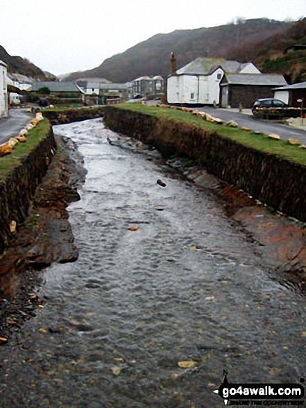 The River Valancy in Boscastle Harbour