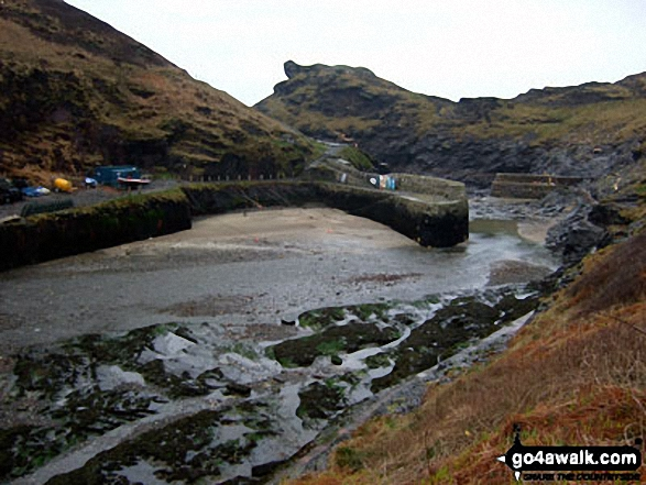 Boscastle Harbour at low tide