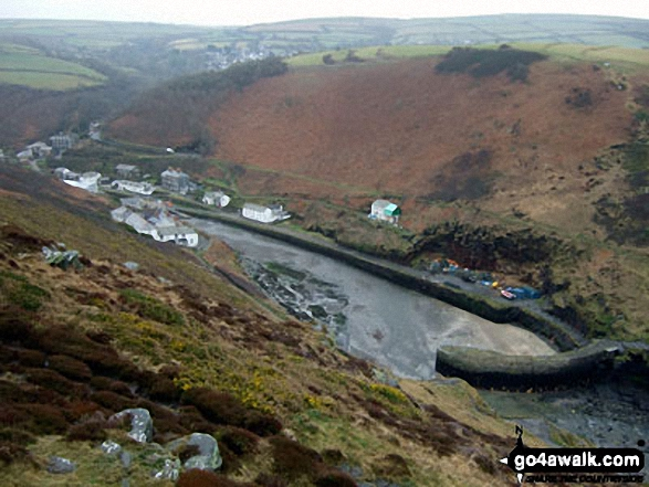 Boscastle Harbour from Penally Hill