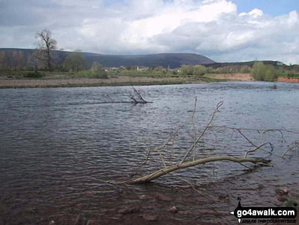 Walk mo122 The River Usk from Clytha - Blorens (Blorenge) from The River Usk