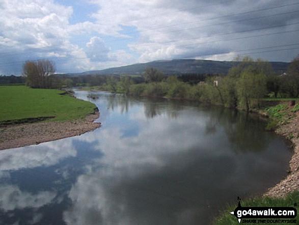 Mynydd Garnclochdy from The River Usk