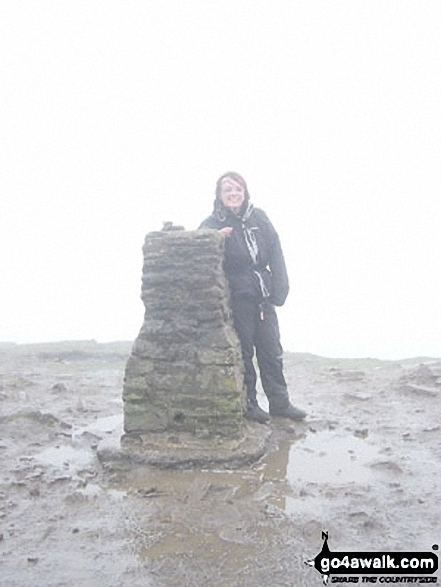 Pen-y-ghent summit during the Yorkshire Three Peaks of Challenge Walk