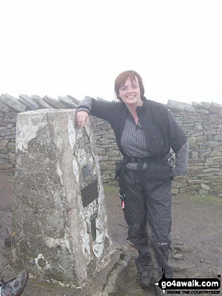 Whernside summit during the Yorkshire Three Peaks of Challenge Walk