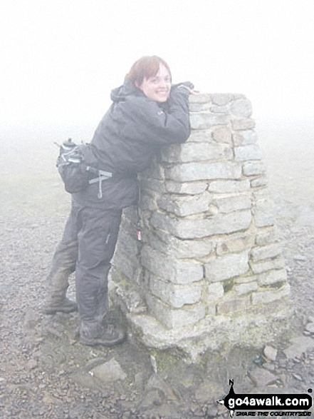 Ingleborough summit during the Yorkshire Three Peaks of Challenge Walk
