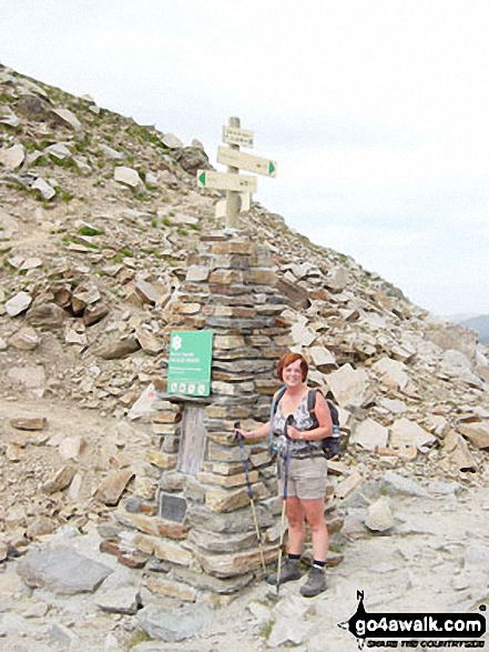 My wife Liz on Brevent walk Mont Blanc  France walks