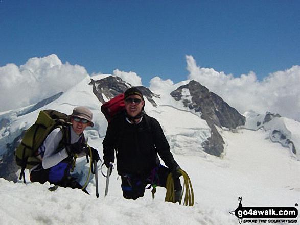 My Son & Myself on Castor in Zermatt Valais Switzerland