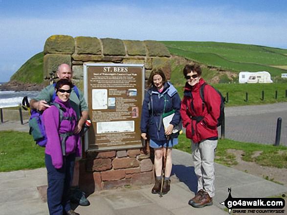 Ann Strain, Kevin Finn, Jill Willcockson and Theresa Howard at St Bees at the start of