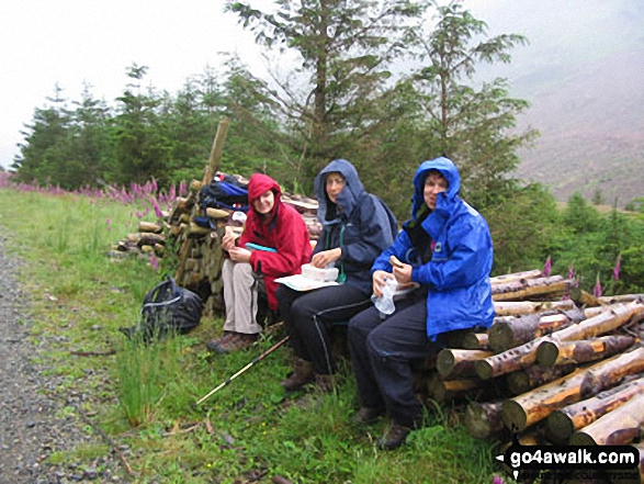 Sheltering from the rain in Ennerdale