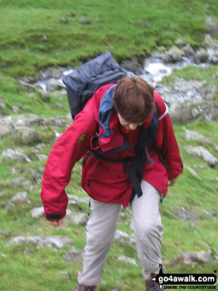 Climbing up beside Loft Beck