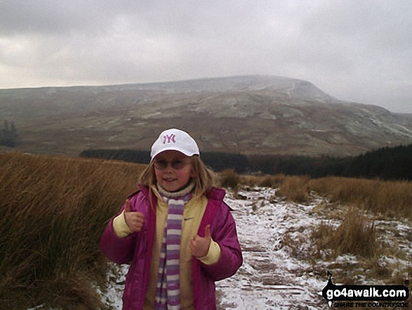 My daughter Ffion (aged 8) on the way back down from Pen y Fan