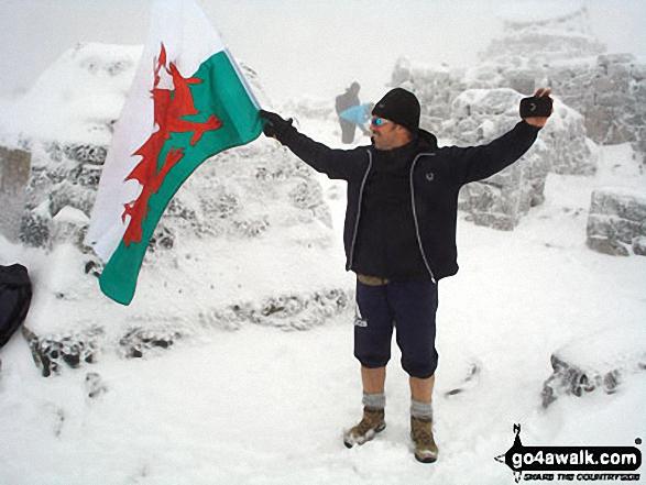 Patriot Gary Davies on the summit of Ben Nevis