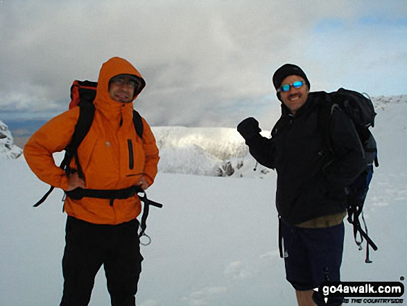 Gary Davies and Kieron Dunning on the summit of Ben Nevis