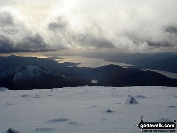 Loch Linnhe from the summit of Ben Nevis