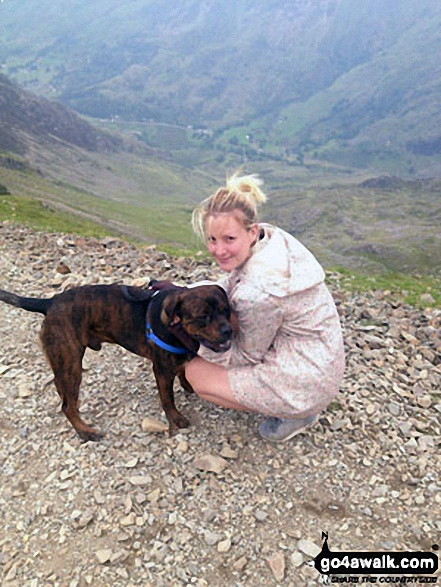 Me and my puppy Freddy, on the Llanberis Path near Halfway Station, half way up Snowdon (Yr Wyddfa)