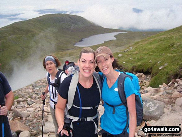 On the lower slopes of Ben Nevis with Meall an t-Suidhe and Lochan Meall an t-Suidhe in the background