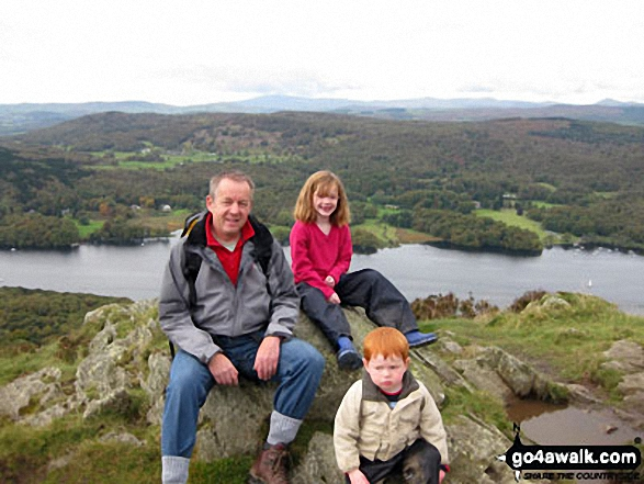 My Family on Gummer's How above Windermere