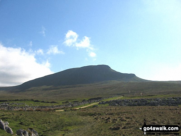 The Yorkshire Three Peaks Challenge - approaching Pen-y-ghent from Brackenbottom