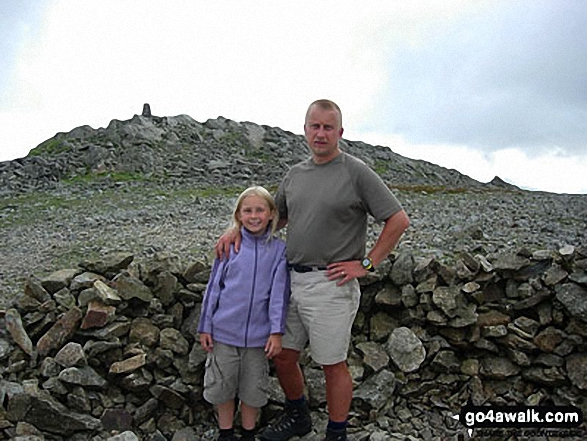 Myself and my 9yr old daughter on Carnedd Moel Siabod in Snowdonia Conwy Wales